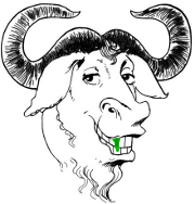 SpinachCon - The gnu has spinach in his teeth!