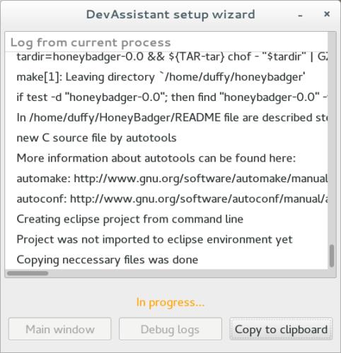 DevAssistant setup wizard_104
