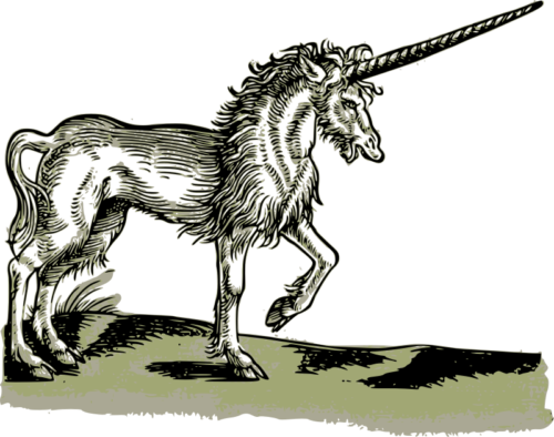 """""""Unicorn - 1551""""  by j4p4n on openclipart.org. Public Domain."""